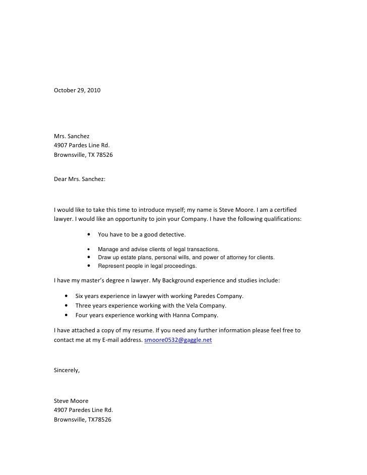 October 29, 2010     Mrs. Sanchez 4907 Pardes Line Rd. Brownsville, TX 78526   Dear Mrs. Sanchez:    I would like to take ...