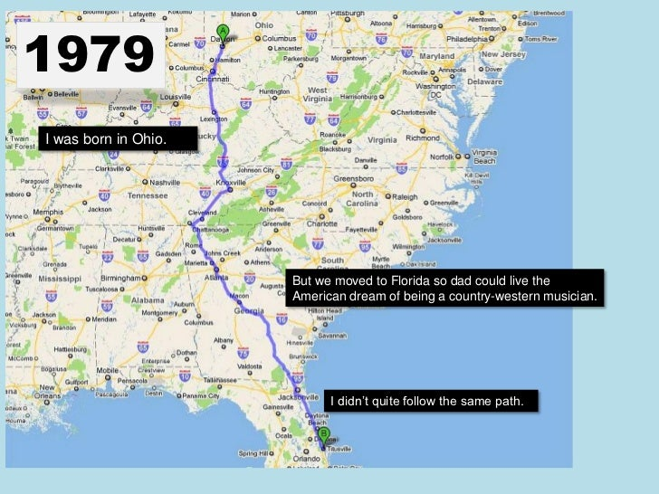 1979I was born in Ohio.                      But we moved to Florida so dad could live the                      American d...