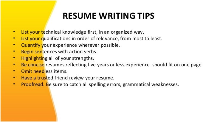 resume ppt for free - Cv And Resume Writing Ppt