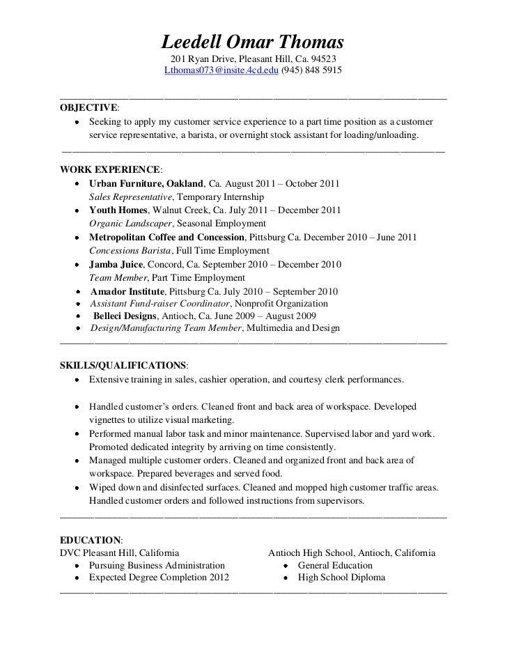 Safeway Resume Objective Sample Clerk Gallery