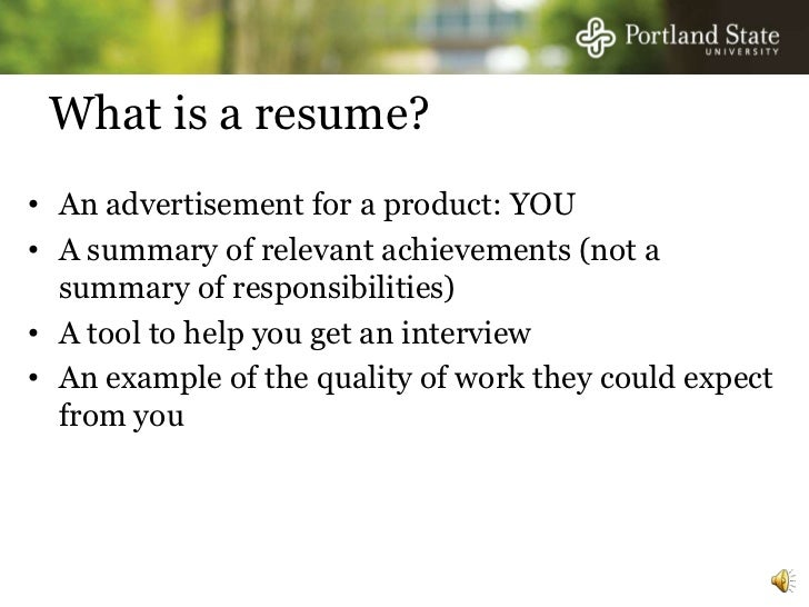 career management onlineseminar seriesresume 2 what is a resume