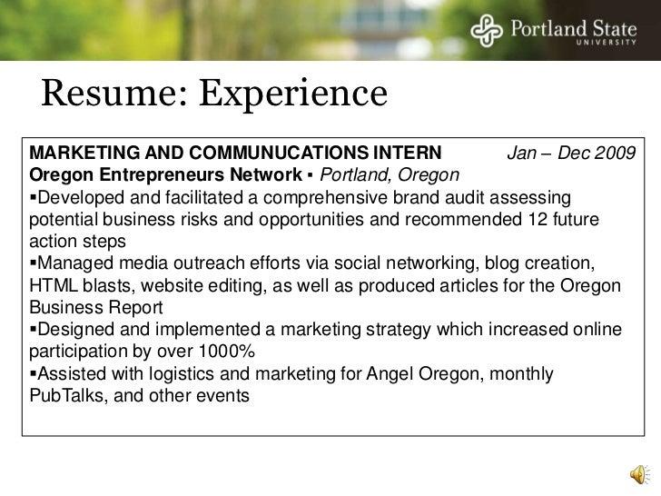 Resume: ExperienceMARKETING ...