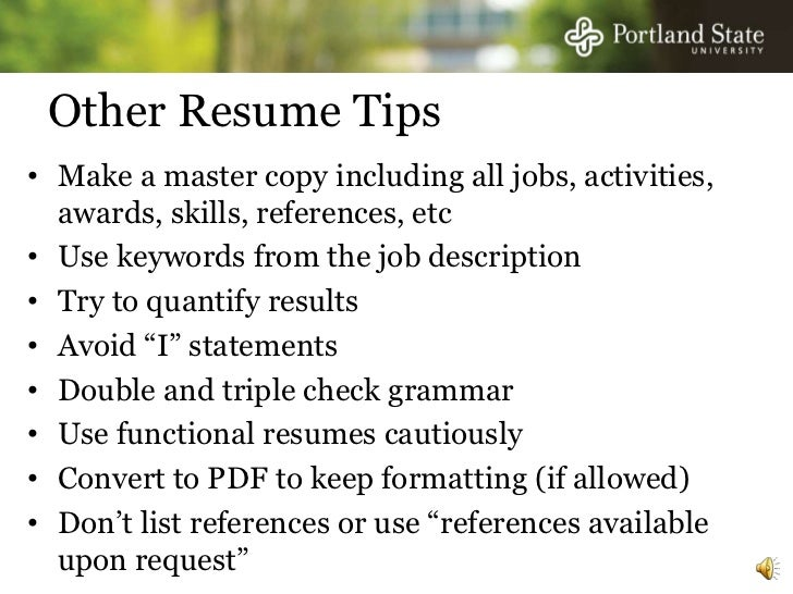 ... And Other Events; 9. Other Resume ...