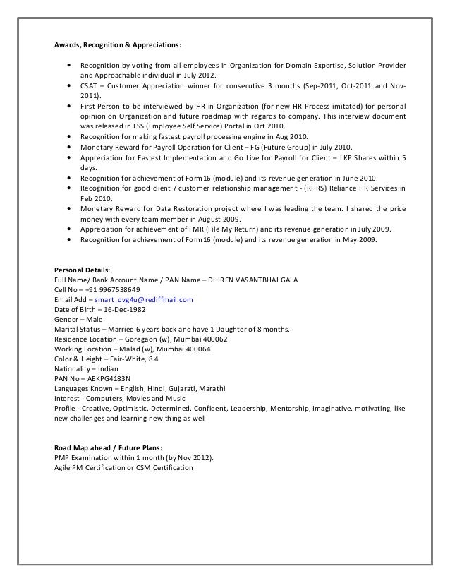 Sample Resume With Awards Section Resume Ixiplay Free