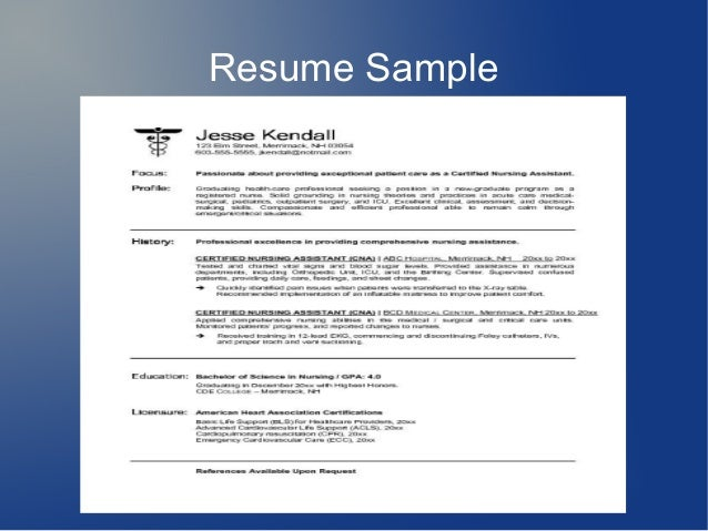 How To Write A Resume For Cna Job
