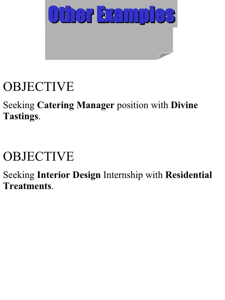 interior design resume objective