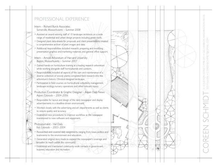 Landscape Design Resume