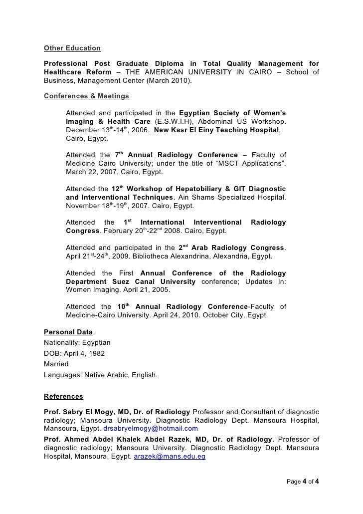 4 - Radiologist Resume