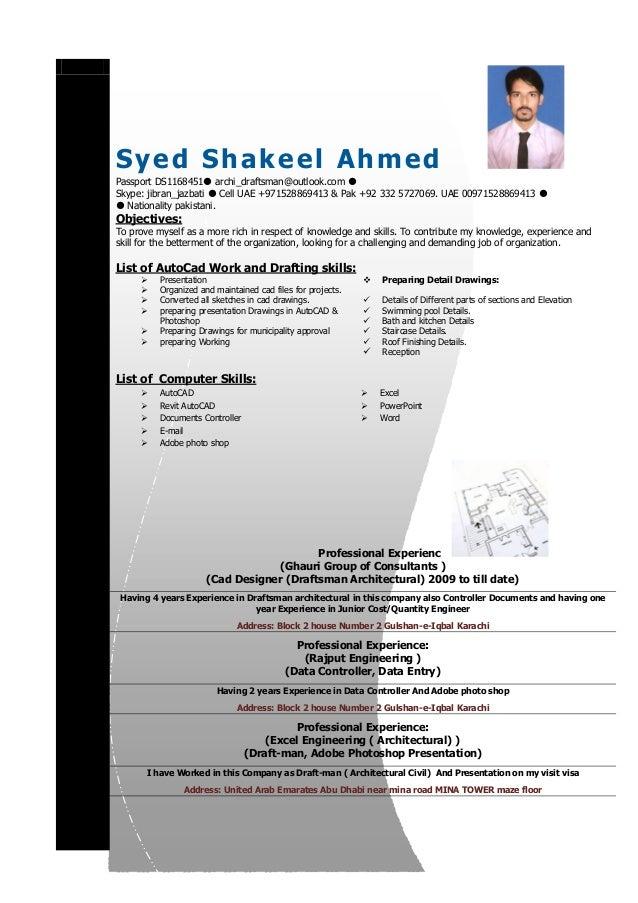 SlideShare  Cad Drafter Resume