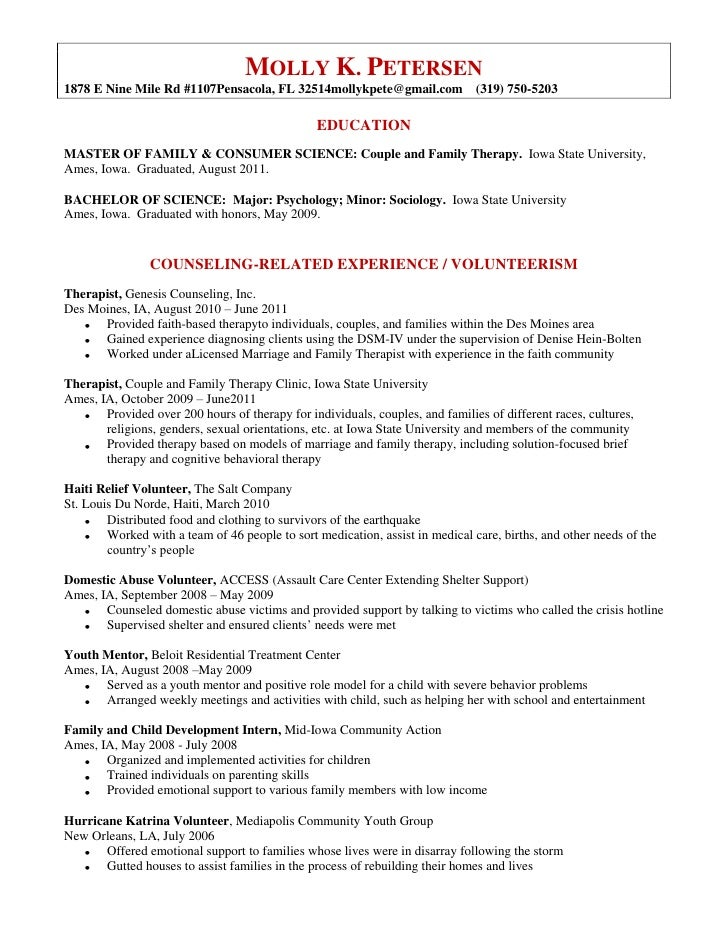 Molly Petersen\\\'s Resume