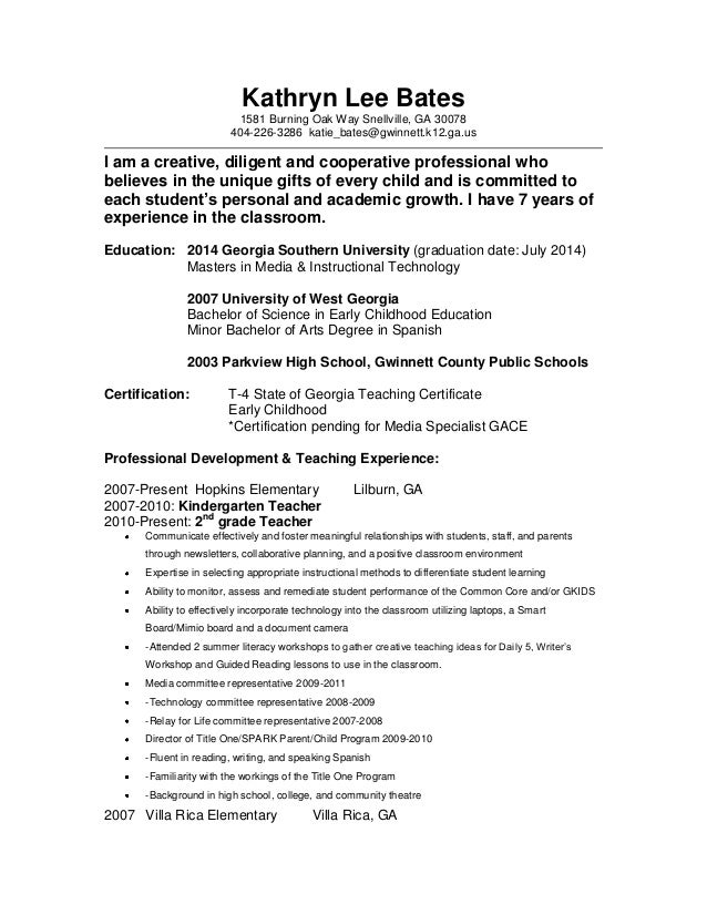 Early Childhood Specialist Resume | Resume CV Cover Letter