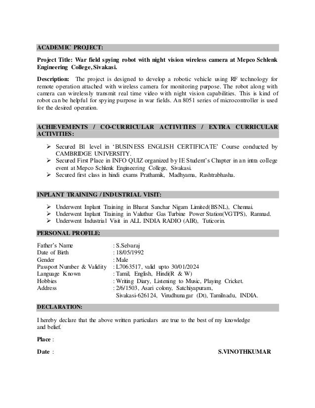 Resume for Applying PLC Engineer Job