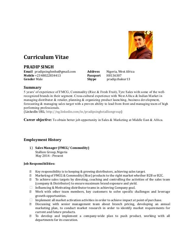 Fmcg Sales Manager Resume Sample Gallery - resume format examples 2018