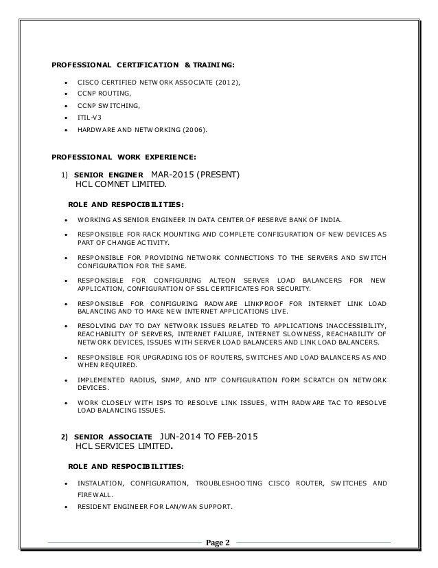 Balraj  Victor   Resume SlideShare Network Engineer CV Hashdoc