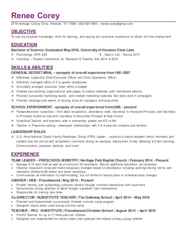 resume for college grad