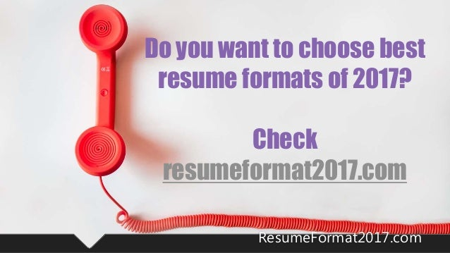 48 - Formats For Resume