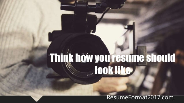how a resume should look like