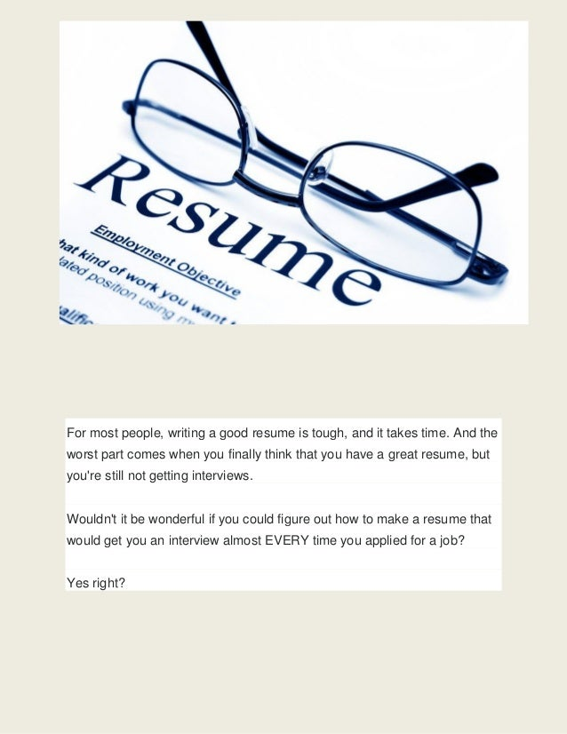 how to build a job winning resume