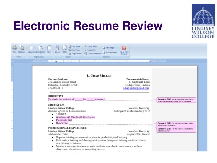 electronic review 27 electronic resume