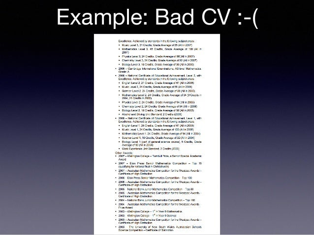 Example: Bad CV : ( Tex T ...  Example Of A Bad Resume