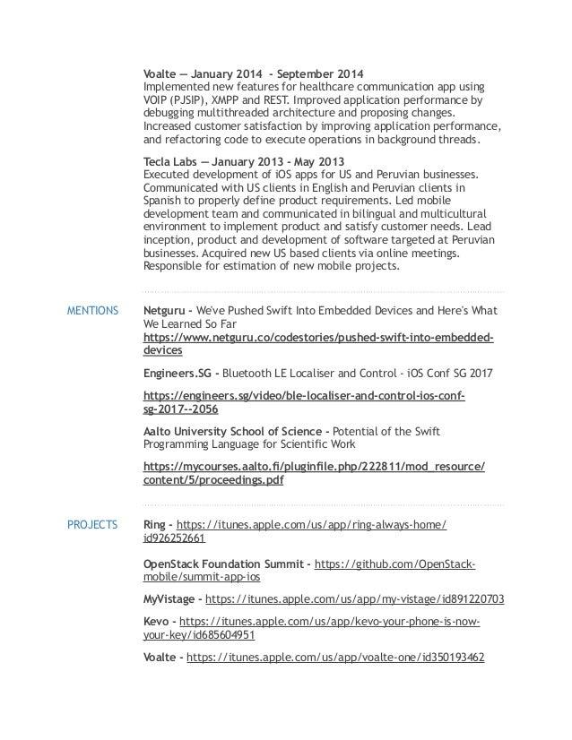 Resume - Alsey Coleman Miller - iOS Developer