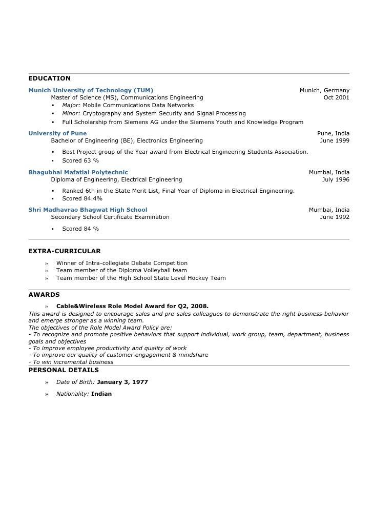 resume ashish deshpande