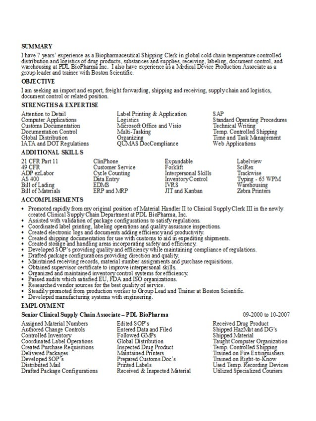resume clinical supply