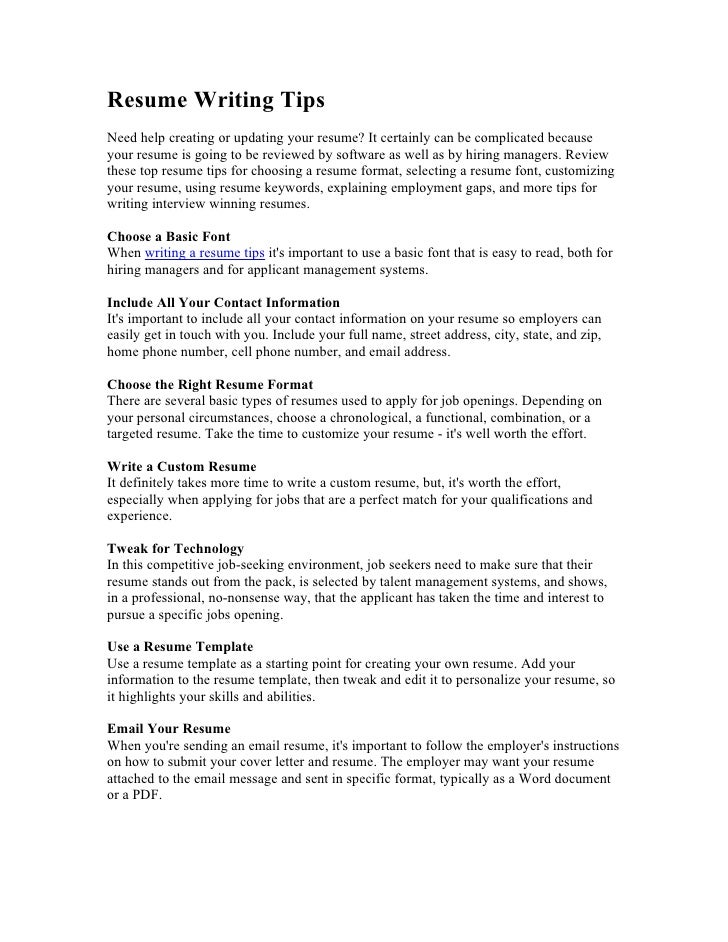 Exelent Important Resume Tips Model - Professional Resume Examples ...