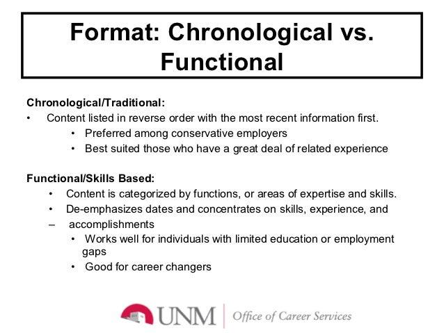 14 format chronological vs - Letter Of Intent Vs Resume