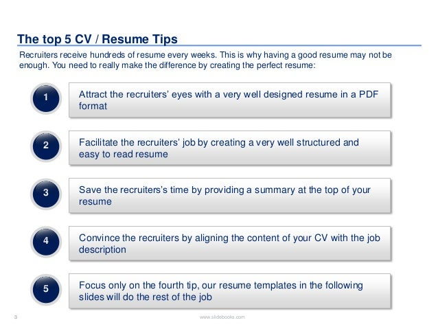SlideShare  Editable Resume Templates