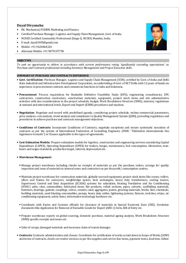 Resume Example. Purchasing Manager Resume Sample. Procurement ...   Procurement  Resume