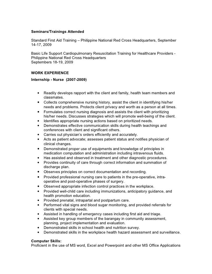 resume for r r j m agency 11 14 09 - Sample Red Cross Resume