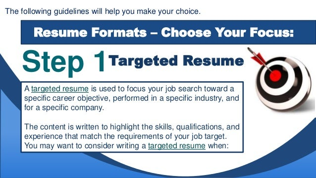 Resume Formats Amp Styles How To Choose The Format That Is