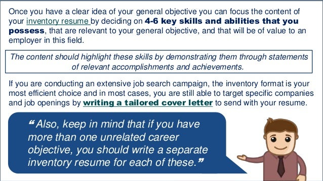 9 - Deciding On The Resume Format