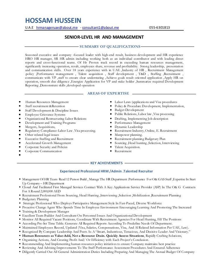 Best Human Resources Manager Resume Ideas - Best Resume Examples