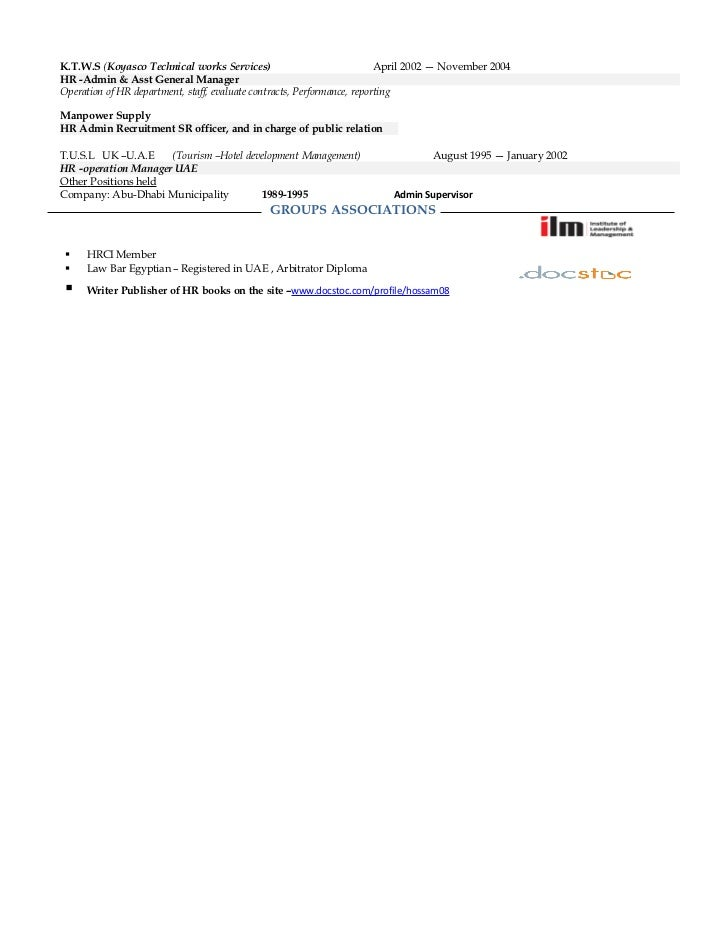 Resume Hr Manager Uae Up Dated