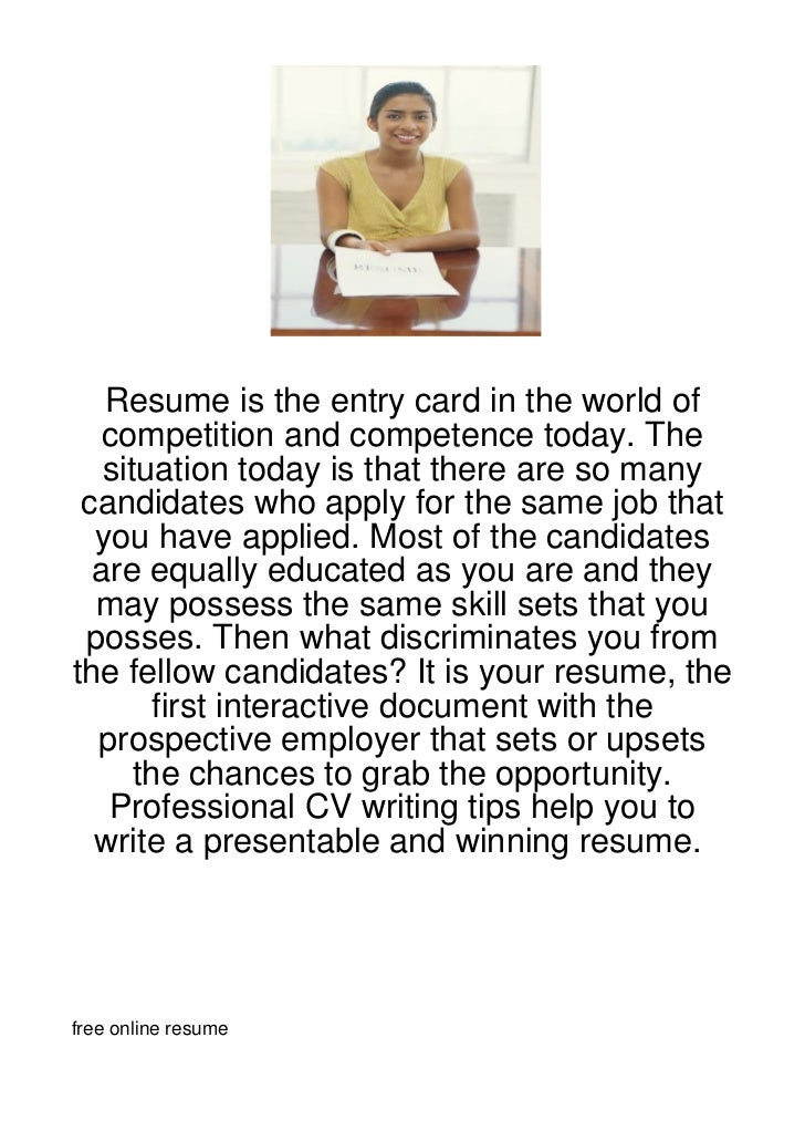 Resume is the entry card in the world of   competition and competence today. The   situation today is that there are so ma...