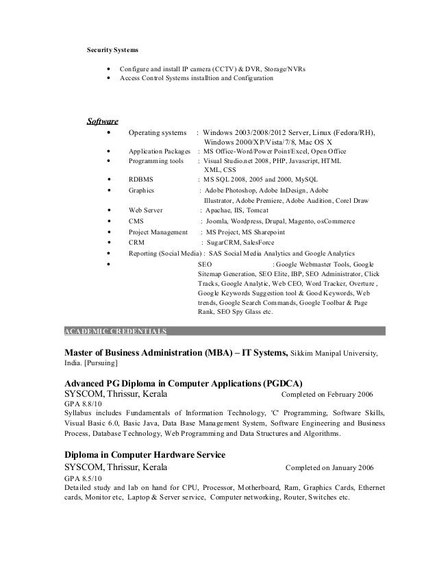 software configuration management resume india