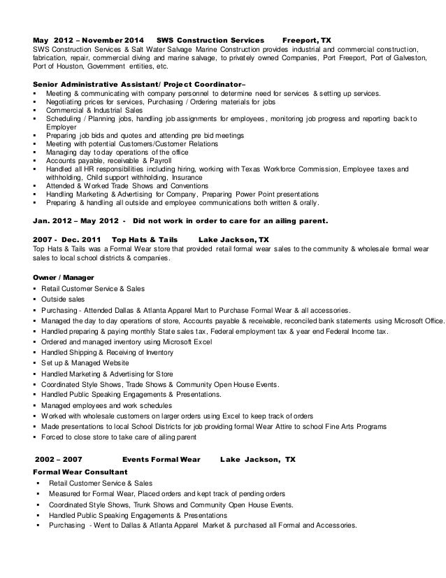 Resume Kathy White