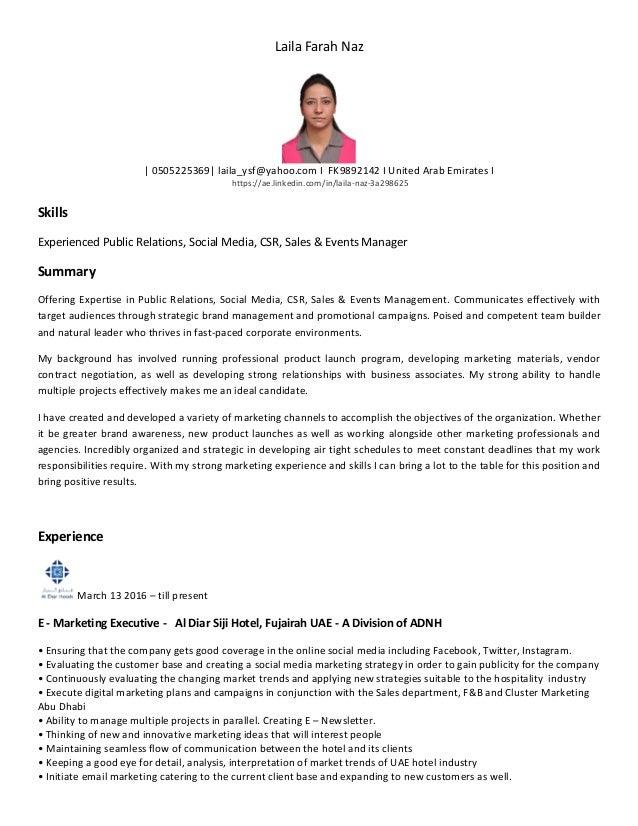 Laila Farah Naz | 0505225369| laila_ysf@yahoo.com I FK9892142 I United Arab Emirates I https://ae.linkedin.com/in/laila-na...