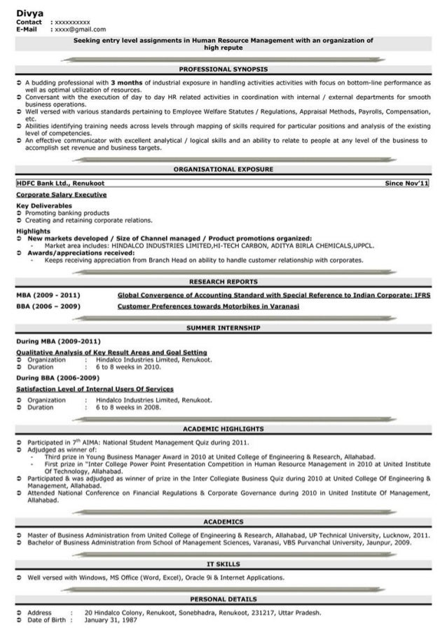 resume creator for freshers