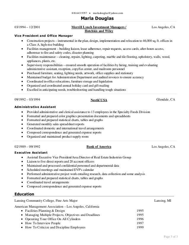 Executive Assistant Objectives Sasolo Annafora Co