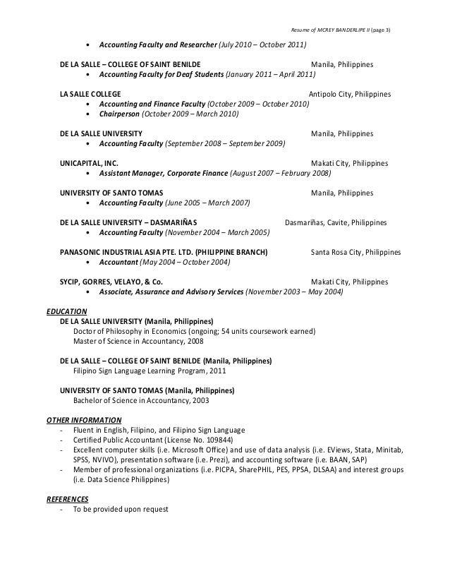 Resume - McRey Banderlipe II 02202017