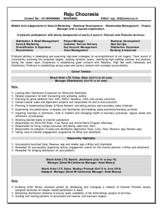 Resume raju chourasia   MBA with