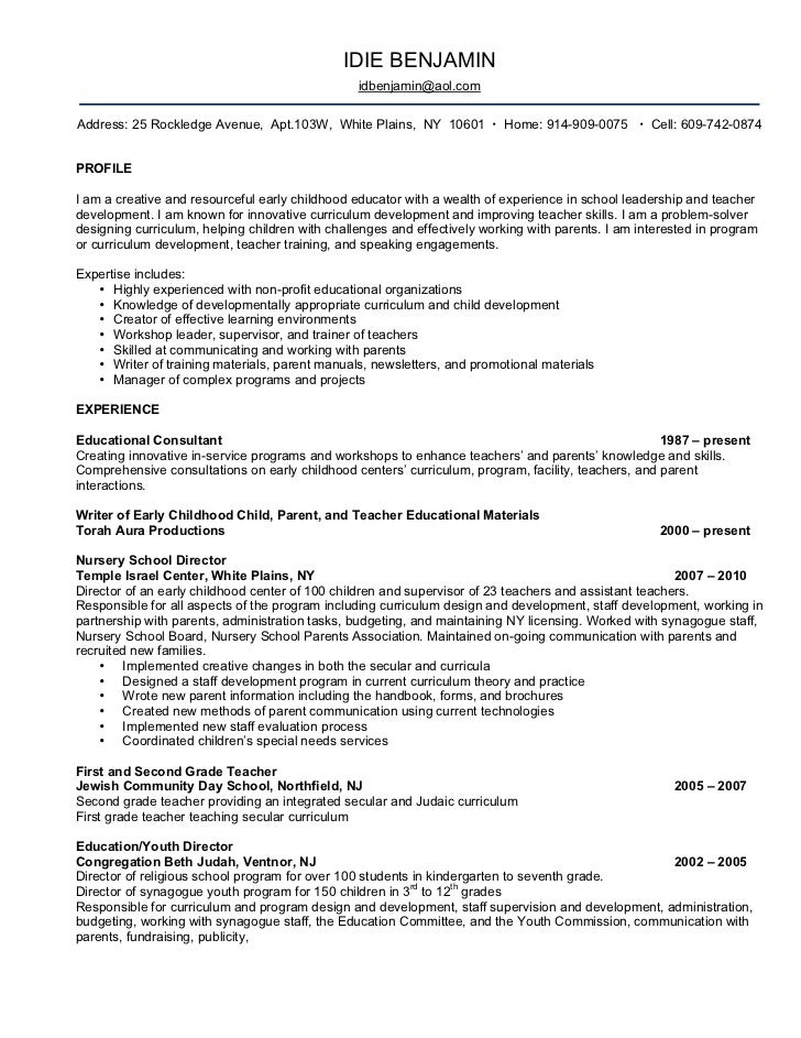 director of education resumes
