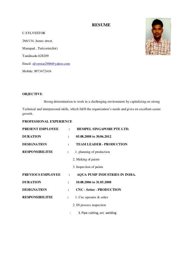 resume star 1