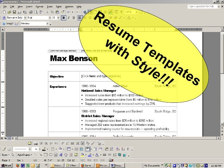 Resume Templates with  Style!!!