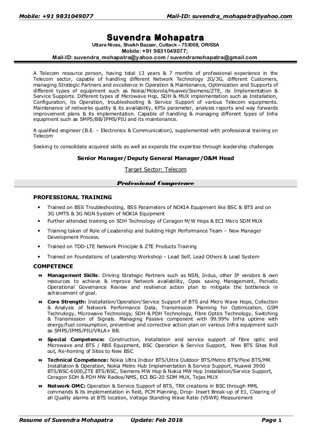 Resume suvendra mohapatra