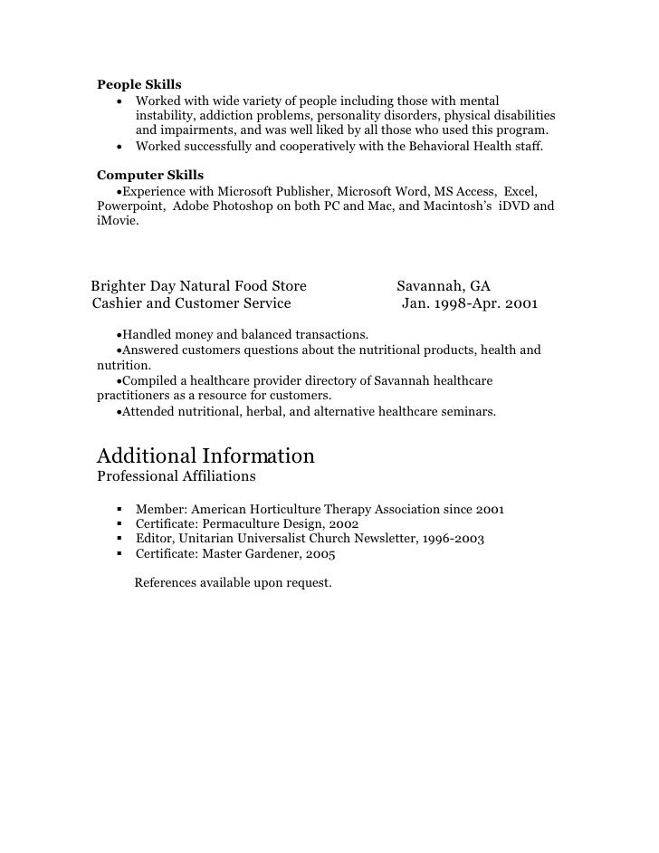 resume volunteer manager