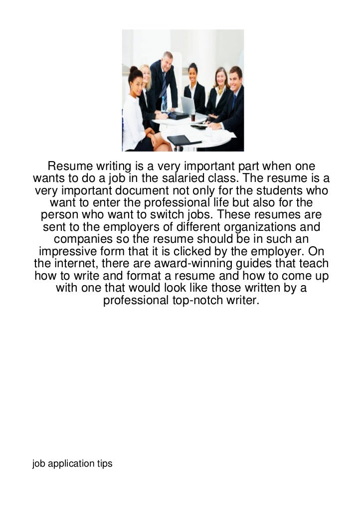 Resume writing is a very important part when onewants to do a job in the salaried class. The resume is avery important doc...